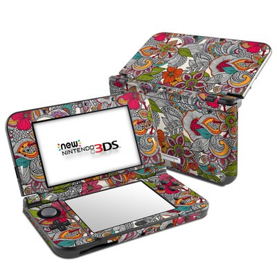 Nintendo 3DS LL Skin - Doodles Color