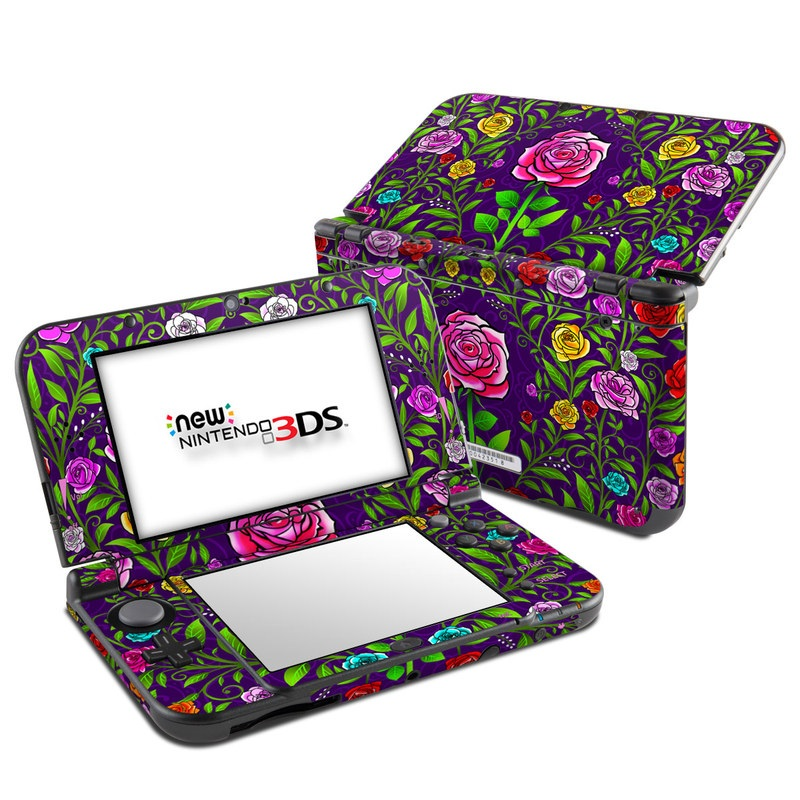 nintendo 3ds ll skin rose burst by kate knight decalgirl. Black Bedroom Furniture Sets. Home Design Ideas