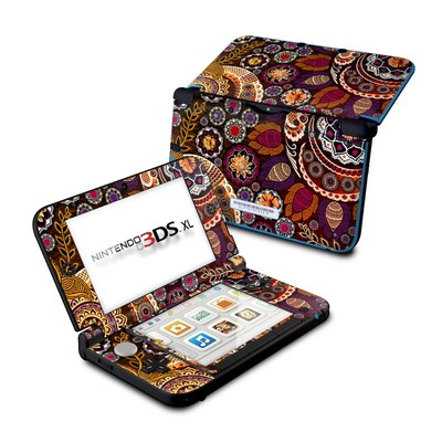 Nintendo 3DS XL Skin - Autumn Mehndi
