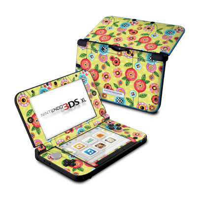 Nintendo 3DS XL Skin - Button Flowers