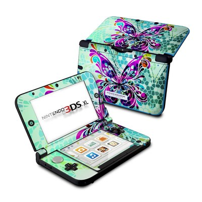 Nintendo 3DS XL Skin - Butterfly Glass