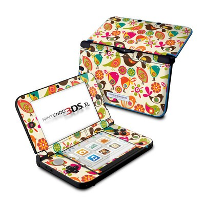 Nintendo 3DS XL Skin - Bird Flowers
