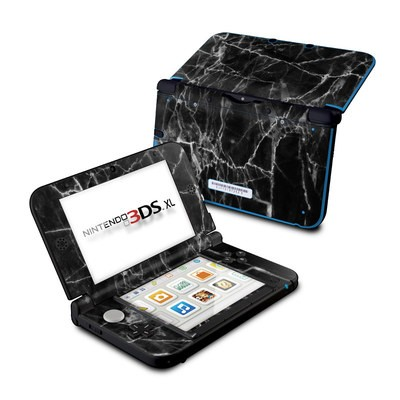 Nintendo 3DS XL Skin - Black Marble