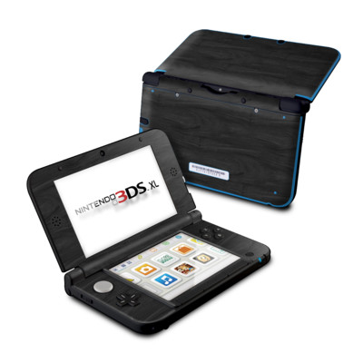 Nintendo 3DS XL Skin - Black Woodgrain
