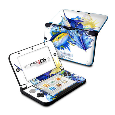 Nintendo 3DS XL Skin - Blue White and Yellow