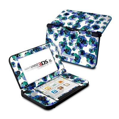 Nintendo 3DS XL Skin - Blue Eye Flowers