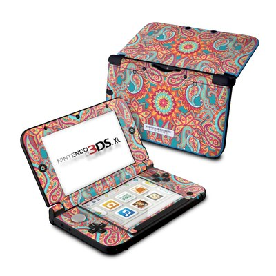 Nintendo 3DS XL Skin - Carnival Paisley