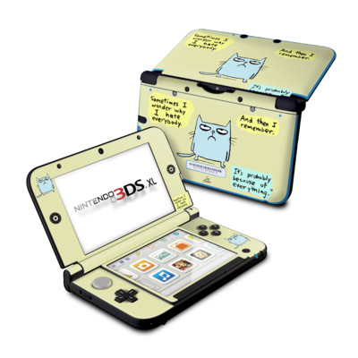 Nintendo 3DS XL Skin - Catwad Hate