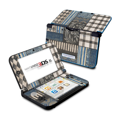 Nintendo 3DS XL Skin - Country Chic Blue