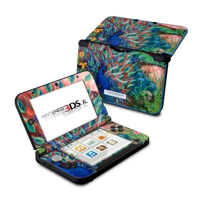 Nintendo 3DS XL Skin - Coral Peacock