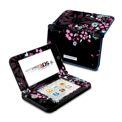 Nintendo 3DS XL Skin - Dark Flowers