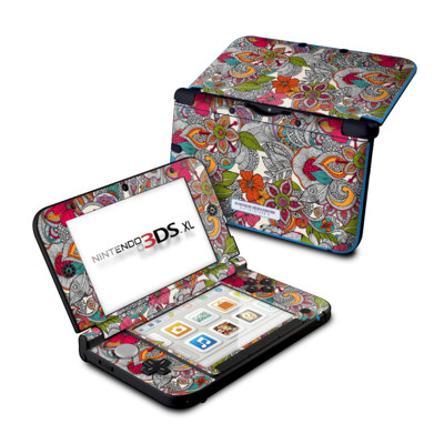 Nintendo 3DS XL Skin - Doodles Color