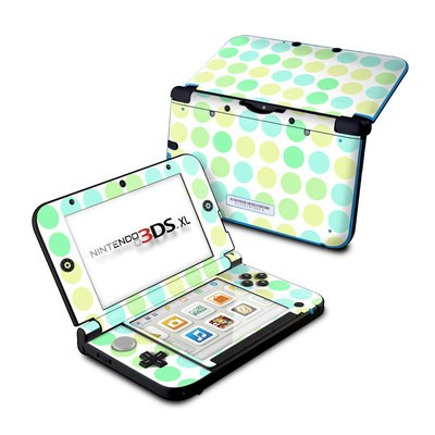 Nintendo 3DS XL Skin - Big Dots Mint