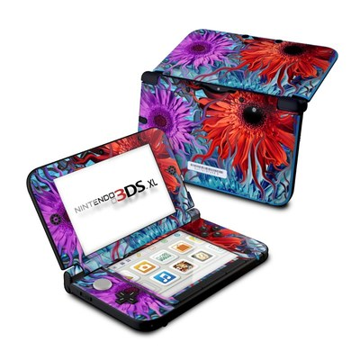 Nintendo 3DS XL Skin - Deep Water Daisy Dance