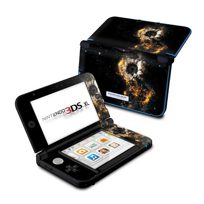 Nintendo 3DS XL Skin - Flower Fury
