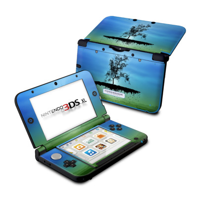 Nintendo 3DS XL Skin - Flying Tree Blue