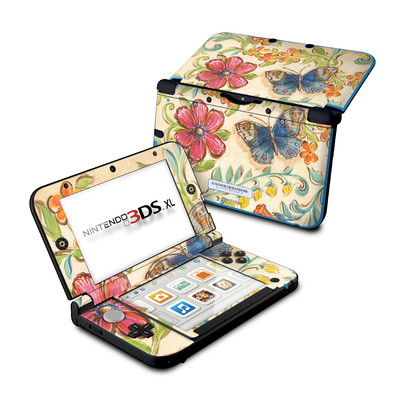 Nintendo 3DS XL Skin - Garden Scroll