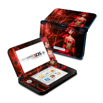 Nintendo 3DS XL Skin - Ghost Red