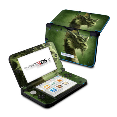 Nintendo 3DS XL Skin - Green Dragon