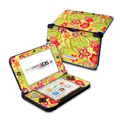 Nintendo 3DS XL Skin - Hippie Flowers Hot Pink
