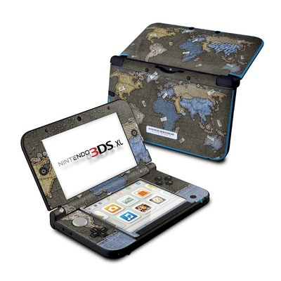 Nintendo 3DS XL Skin - Jean Map
