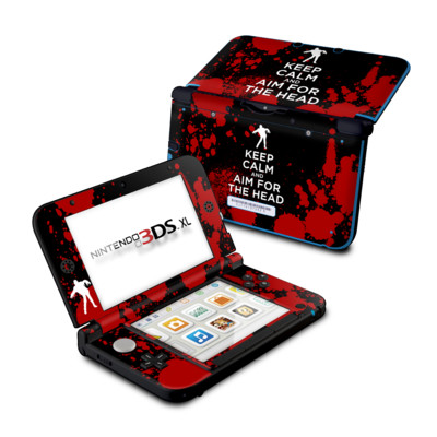 Nintendo 3DS XL Skin - Keep Calm - Zombie