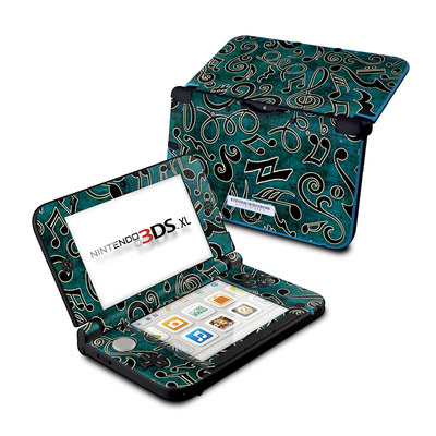 Nintendo 3DS XL Skin - Music Notes