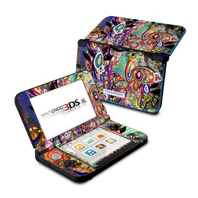 Nintendo 3DS XL Skin - Purple Birds