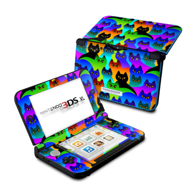 Nintendo 3DS XL Skin - Rainbow Cats