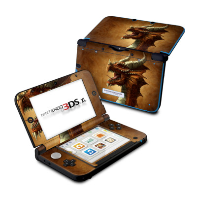 Nintendo 3DS XL Skin - Red Dragon