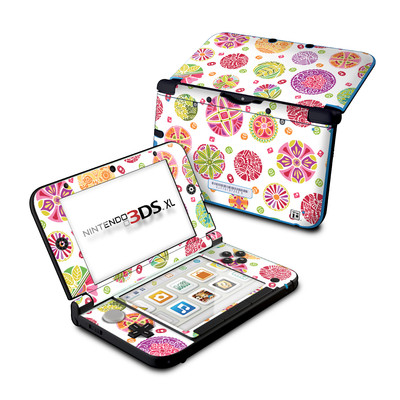 Nintendo 3DS XL Skin - Round Flowers