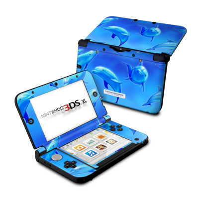 Nintendo 3DS XL Skin - Swimming Dolphins