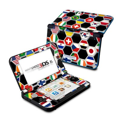 Nintendo 3DS XL Skin - Soccer Flags