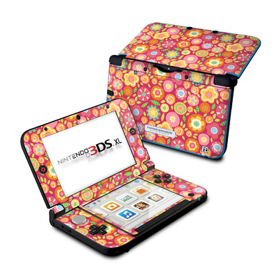 Nintendo 3DS XL Skin - Flowers Squished