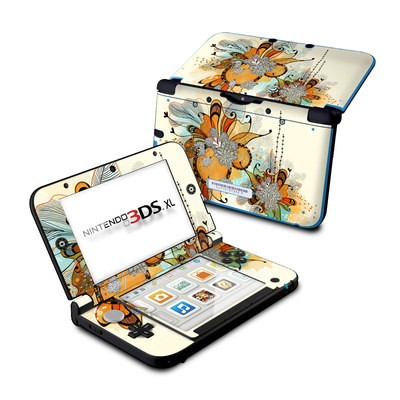 Nintendo 3DS XL Skin - Sunset Flowers