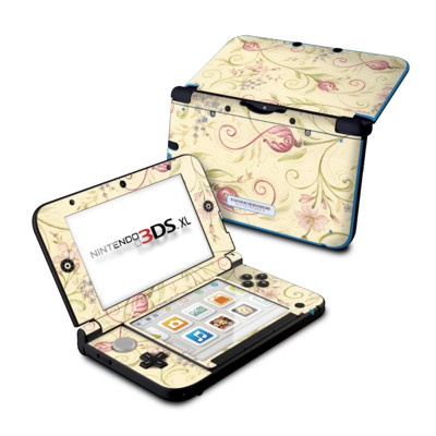Nintendo 3DS XL Skin - Tulip Scroll