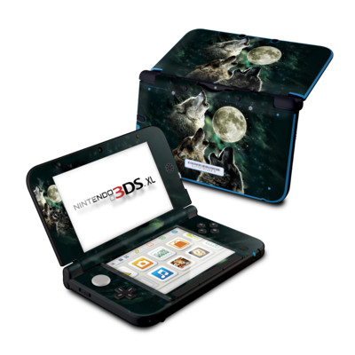 Nintendo 3DS XL Skin - Three Wolf Moon