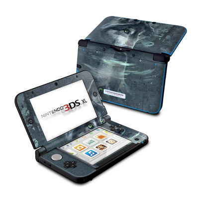 Nintendo 3DS XL Skin - Wolf Reflection