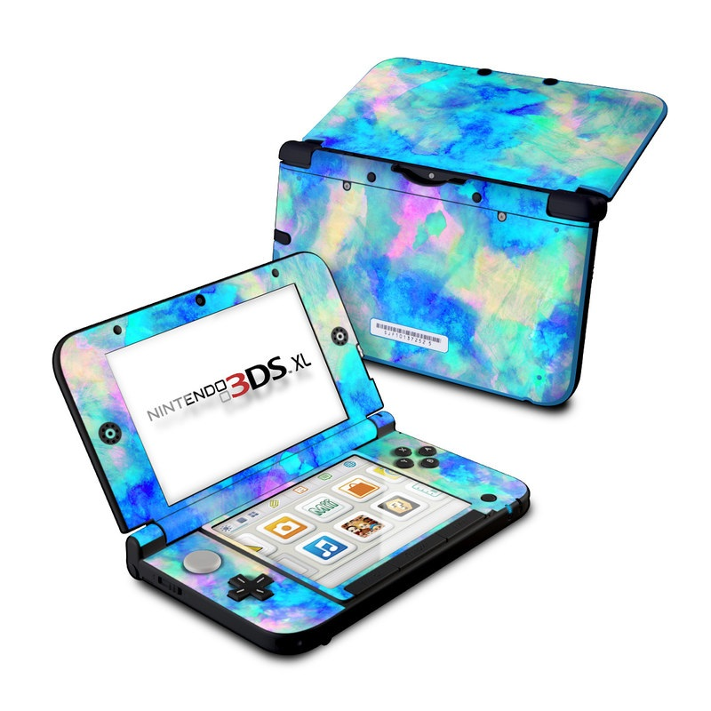 Nintendo 3ds Xl Games : Nintendo ds xl skin electrify ice blue by amy sia