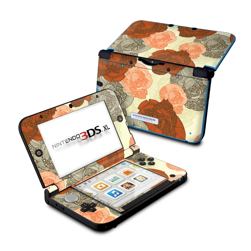 nintendo 3ds xl skin roses by valentina ramos decalgirl. Black Bedroom Furniture Sets. Home Design Ideas
