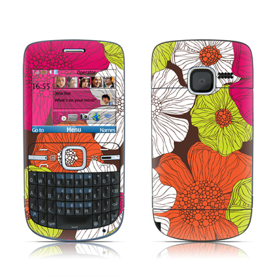 Nokia C3 Skin - Brown Flowers
