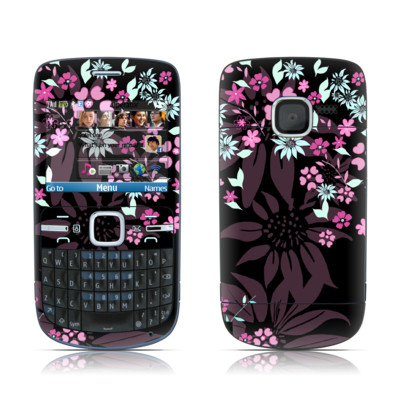 Nokia C3 Skin - Dark Flowers