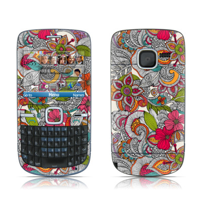 Nokia C3 Skin - Doodles Color