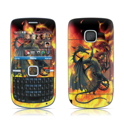 Nokia C3 Skin - Dragon Wars