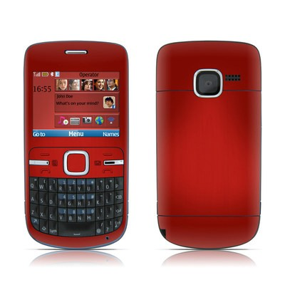 Nokia C3 Skin - Red Burst