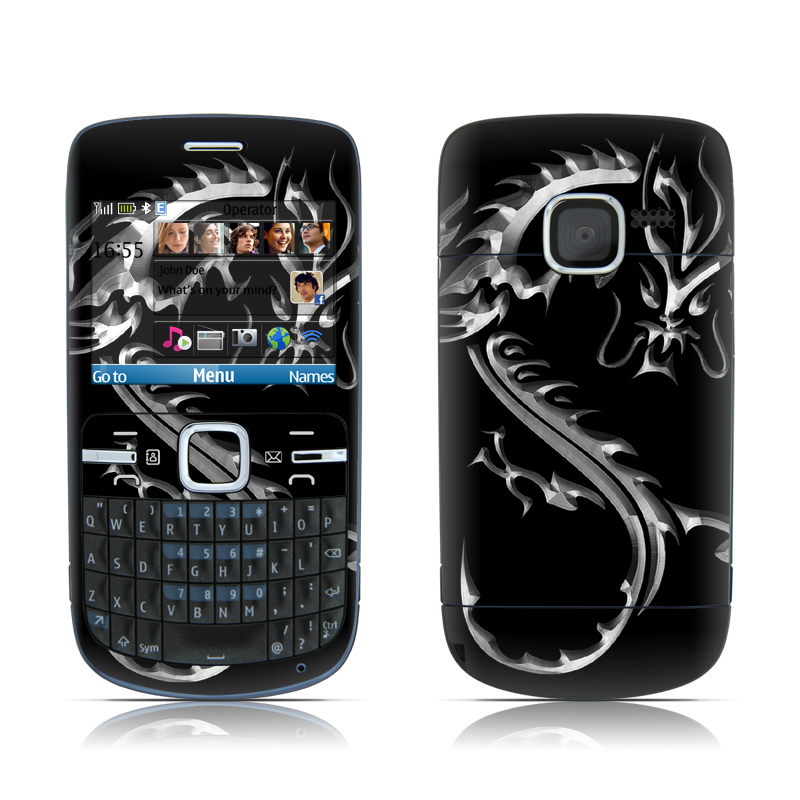 hot sale online 7dfbb 8b307 Nokia C3 Skin - Chrome Dragon by DecalGirl Collective