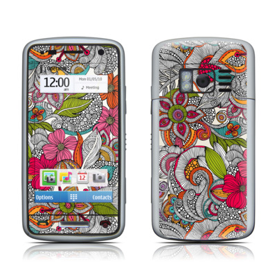 Nokia C6 Skin - Doodles Color
