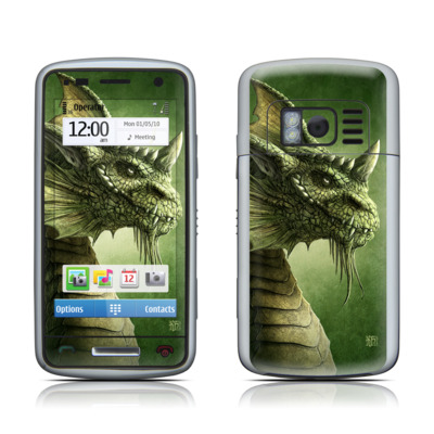 Nokia C6 Skin - Green Dragon