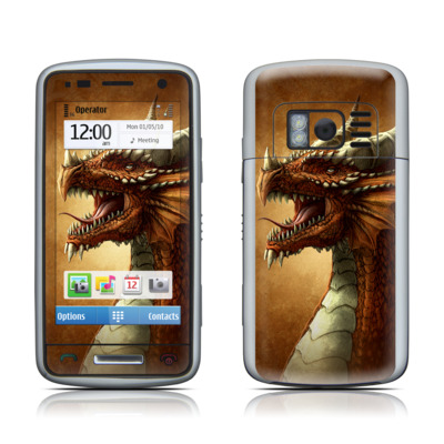 Nokia C6 Skin - Red Dragon