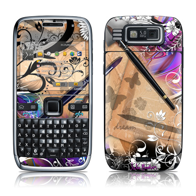 Nokia E72 Skin - Dream Flowers